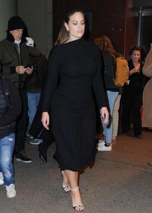 Ashley Graham - Leaves Brandon Maxwell's Show in New York