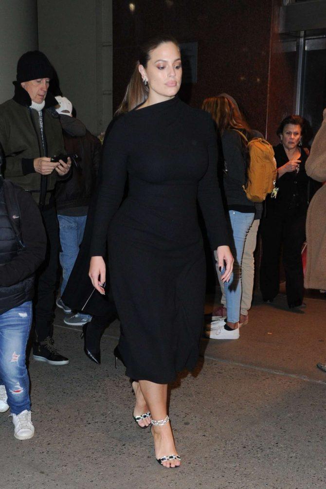 Ashley Graham – Leaves Brandon Maxwell's Show in New York