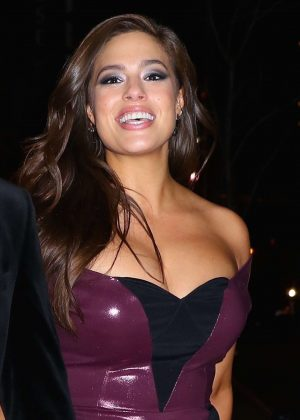 Ashley Graham - Leaves the SkyLight Modern with Justin Ervin in NYC