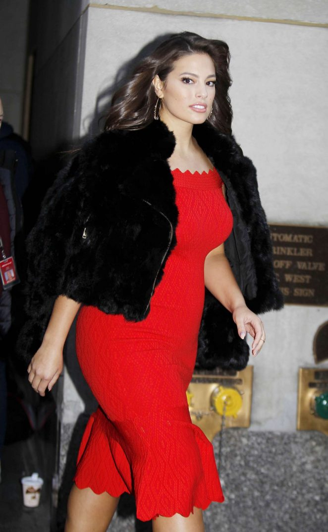 Ashley Graham - Leaving the Today Show in NY