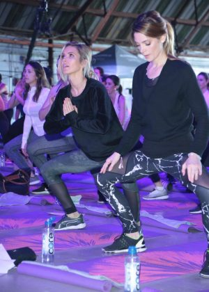 Ashley Greene and Audrina Patridge - Kohl's x Studio Tone It Up at Barker Hangar in Santa Monica