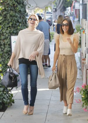 Ashley Greene and Cara Santana at the Ivy in West Hollywood