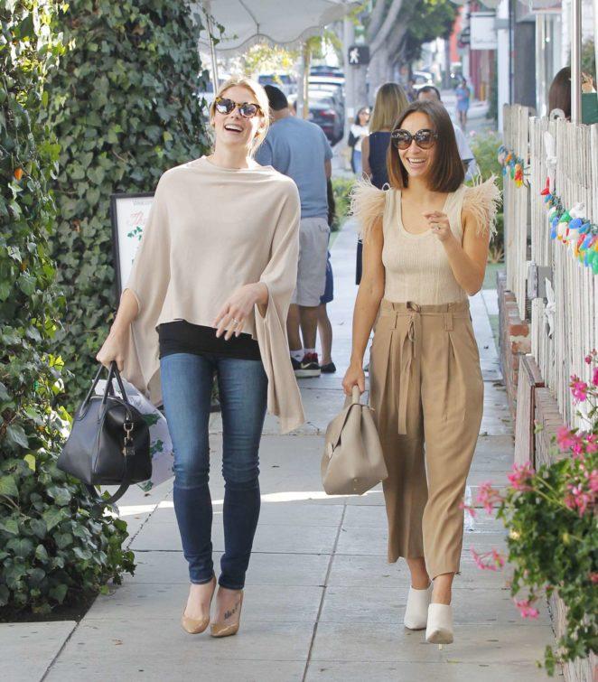 Ashley Greene and Cara Santana at the Ivy in West Hollywood