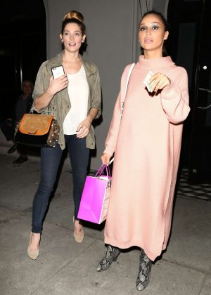 Ashley Greene and Cara Santana night out in Los Angeles