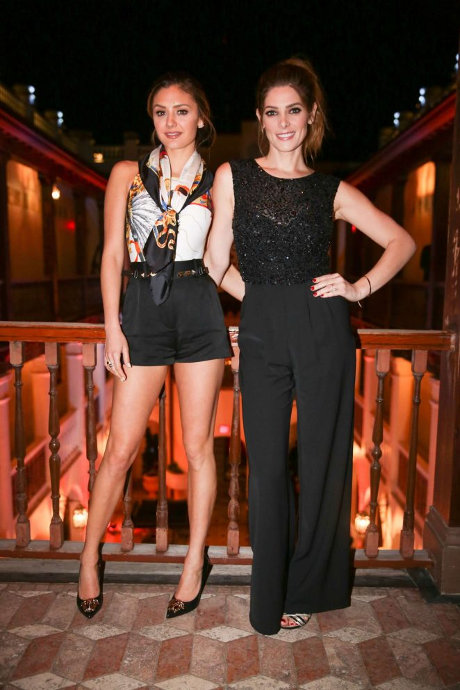 Ashley Greene and Christine Evangelista at Versace Mansion in Miami