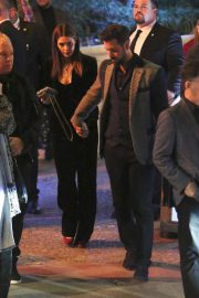 Ashley Greene and her husband exit Seth MacFarlane's holiday party in LA