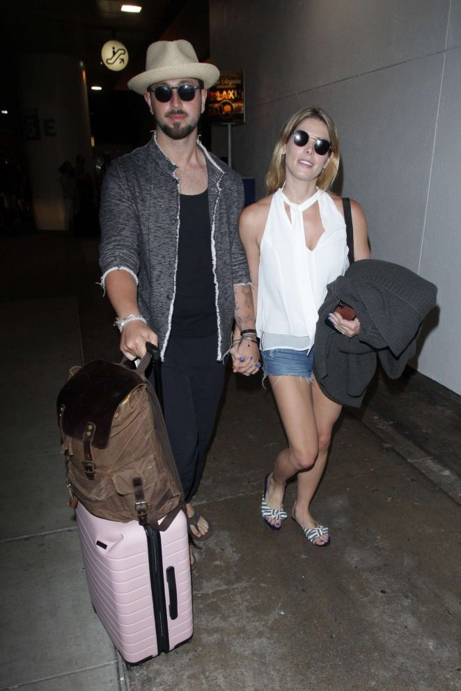 Ashley Greene and Paul Khoury at LAX airport in Los Angeles
