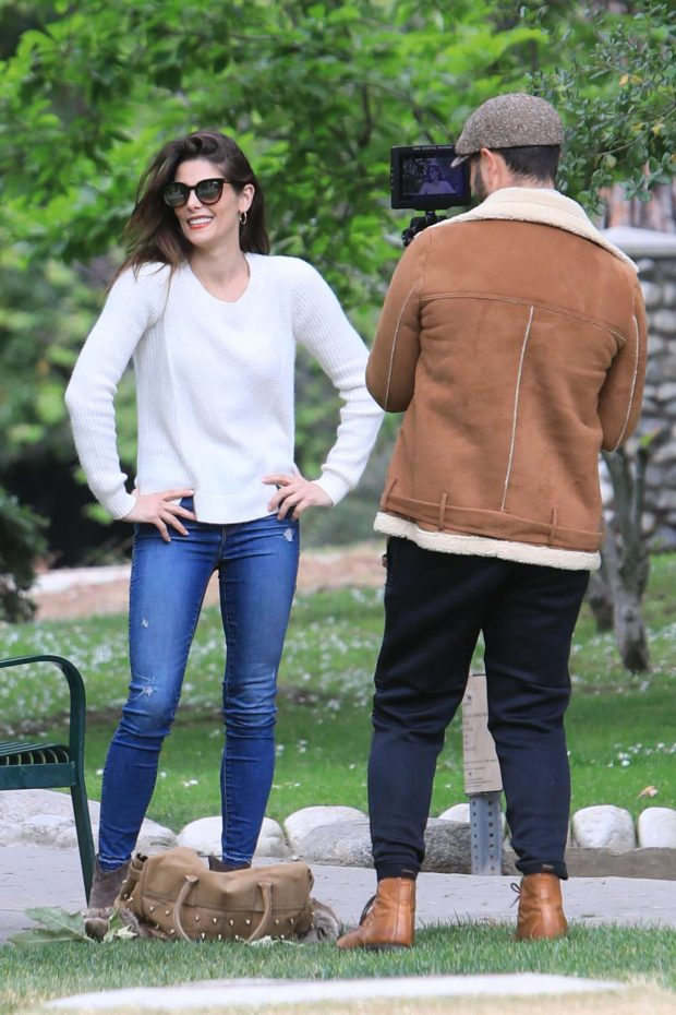 Ashley Greene and Paul Khoury at the park in Beverly Hills -02