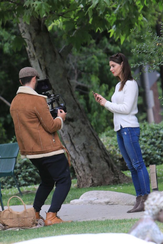 Ashley Greene and Paul Khoury at the park in Beverly Hills -04