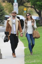 Ashley Greene and Paul Khoury at the park in Beverly Hills