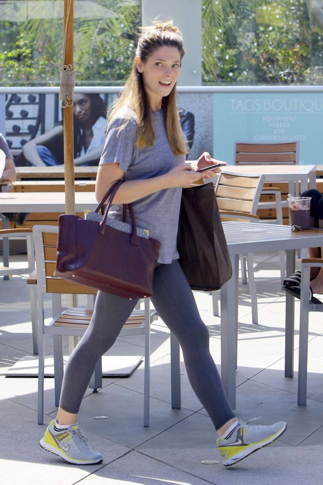 Ashley Greene: Arriving at Equinox -02