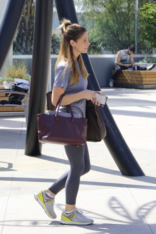 Ashley Greene: Arriving at Equinox -08