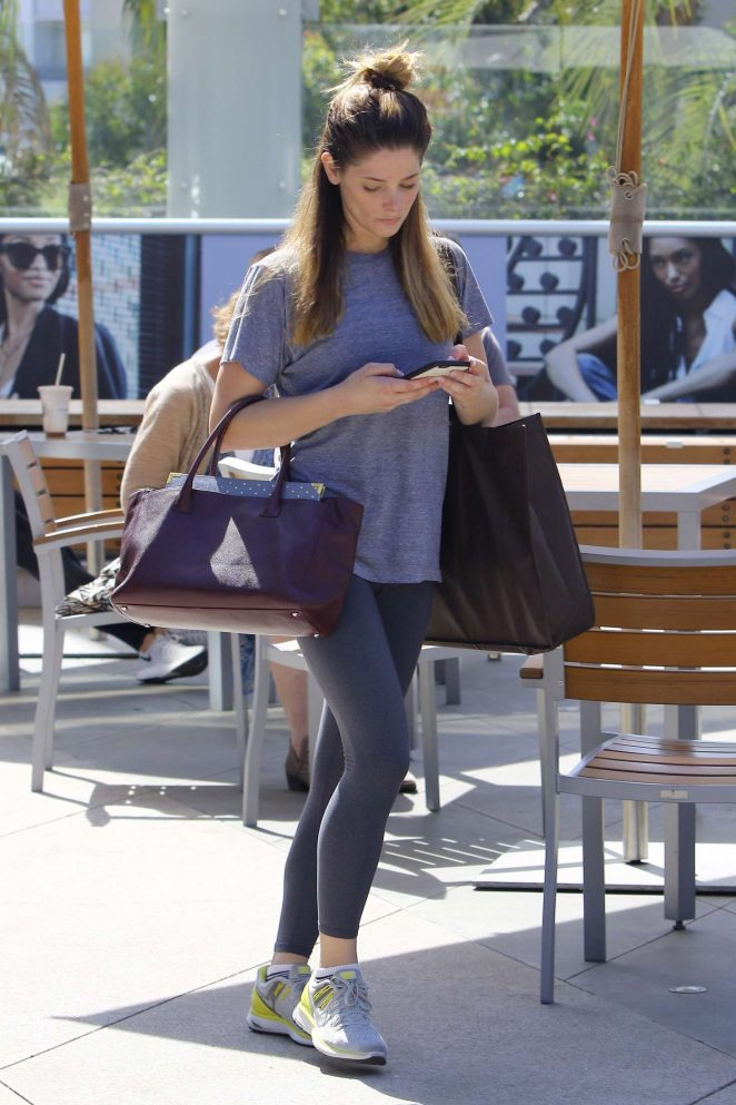 Ashley Greene: Arriving at Equinox -12