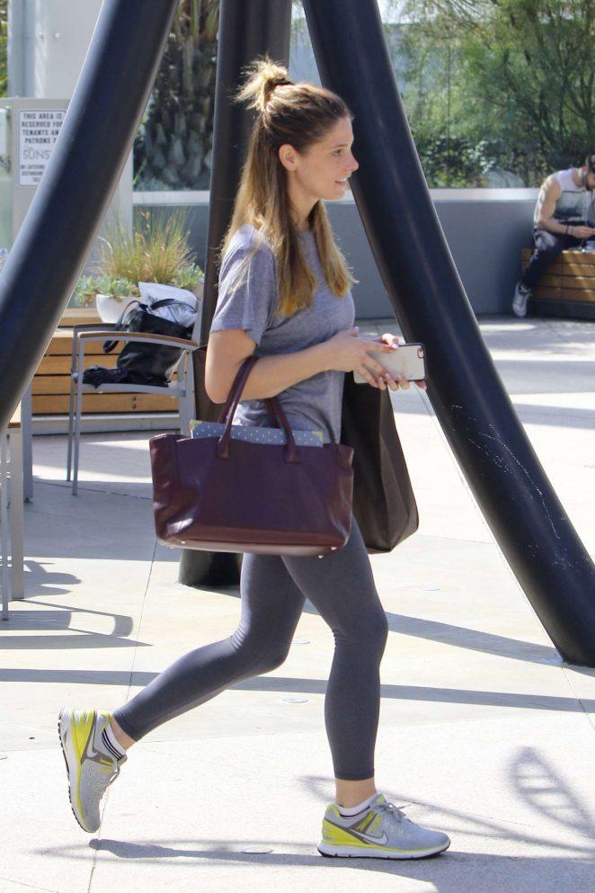 Ashley Greene: Arriving at Equinox -13