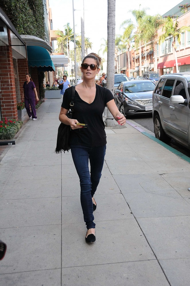 Ashley Greene in Jeans at a nail salon in LA