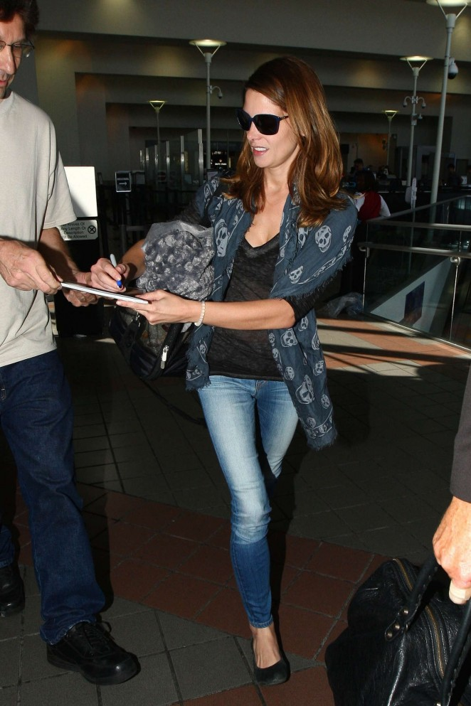 Ashley Greene in Jeans at LAX Airport in LA