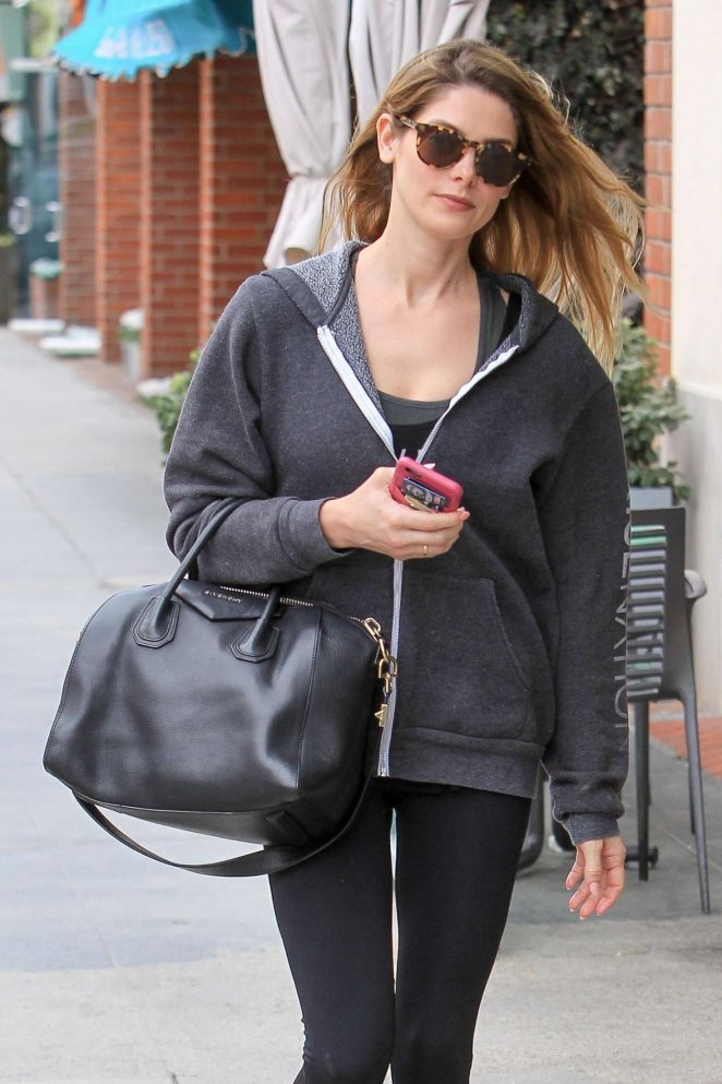Ashley Greene at nails salon in Beverly Hills