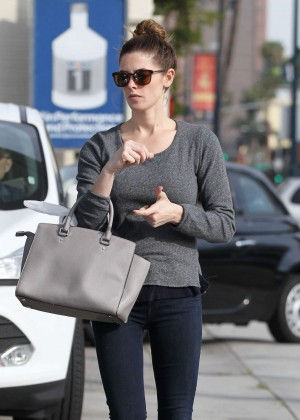 Ashley Greene in Tight Jeans Getting gas in LA