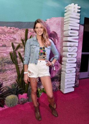 Ashley Greene - H&M Loves Coachella Pop UP in Indio