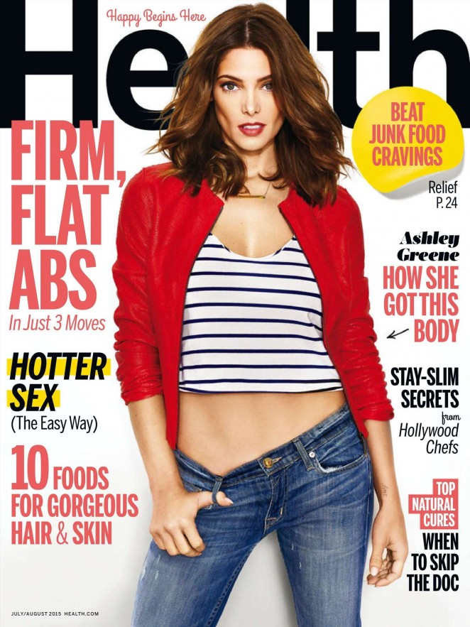 Ashley Greene - Health Magazine (July/August 2015)