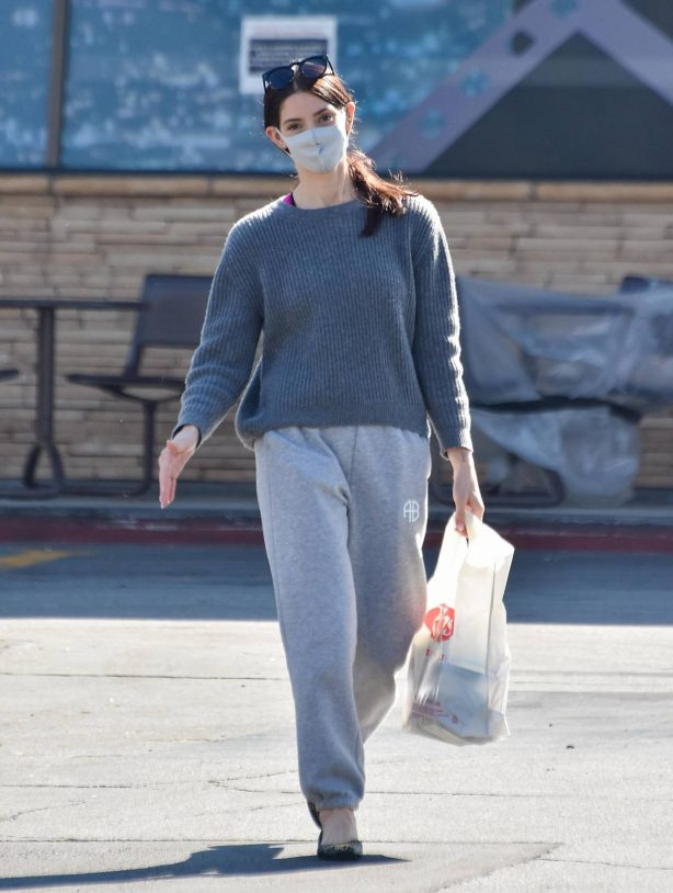 Ashley Greene - In a grey sweatpants seen while out in Los Angeles