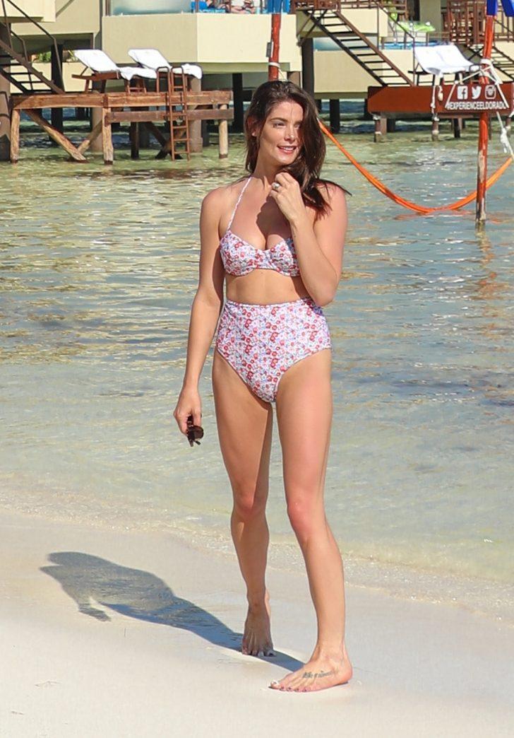 Ashley Greene in Bikini on the beach in Mexico