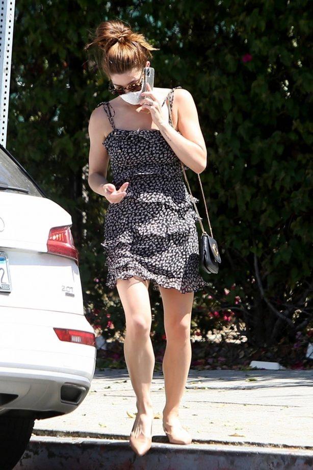 Ashley Greene in Mini Dress - Out in Los Angeles