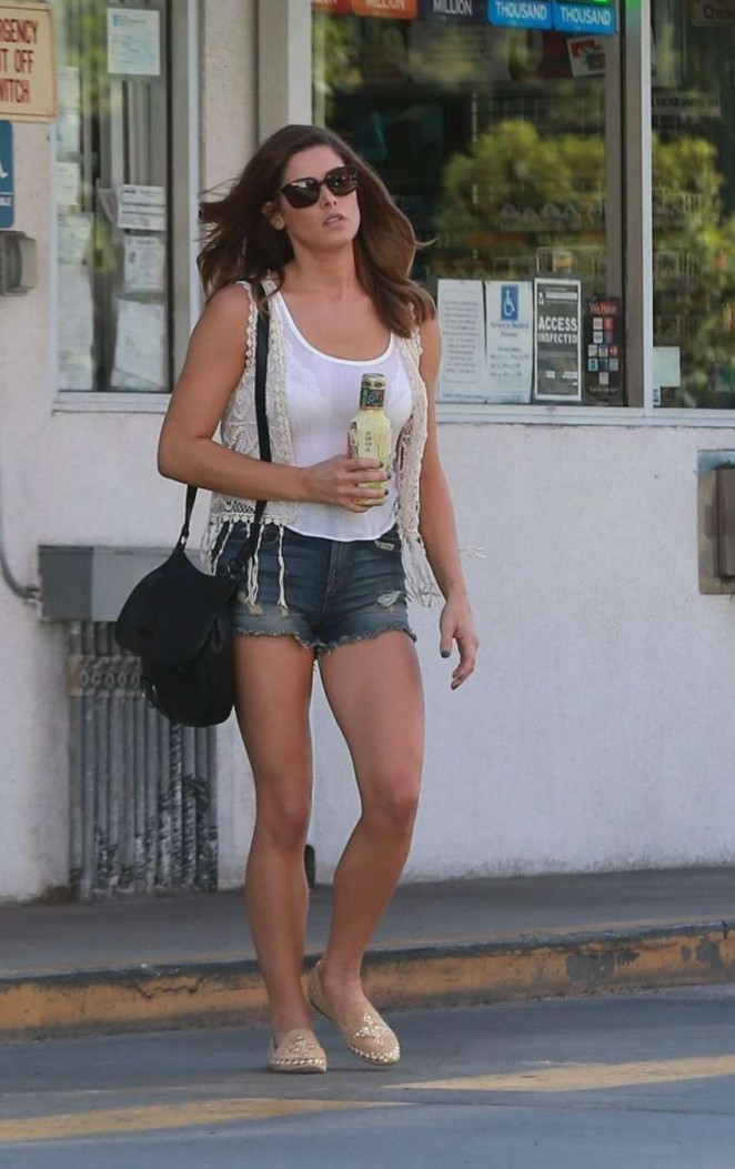 Ashley Greene in Shorts out in Studio City