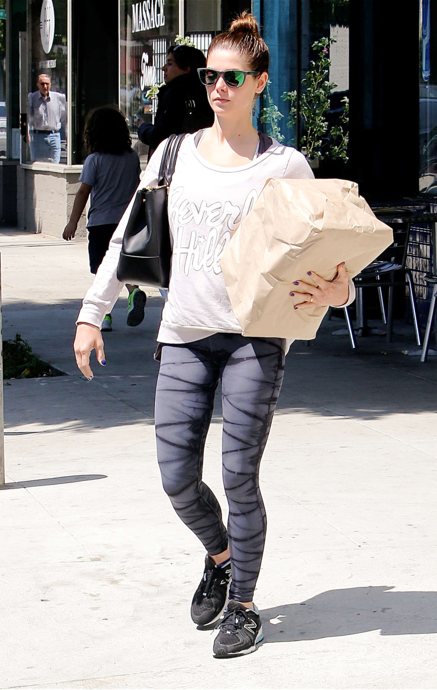 Ashley Greene in Tights Out in LA