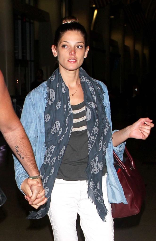 Ashley Greene - LAX airport in LA