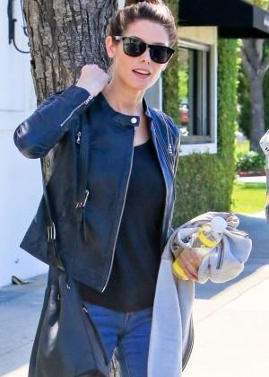 Ashley Greene - Leaving a salon in LA