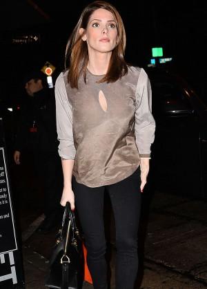 Ashley Greene - Leaving Craig's Restaurant in West Hollywood