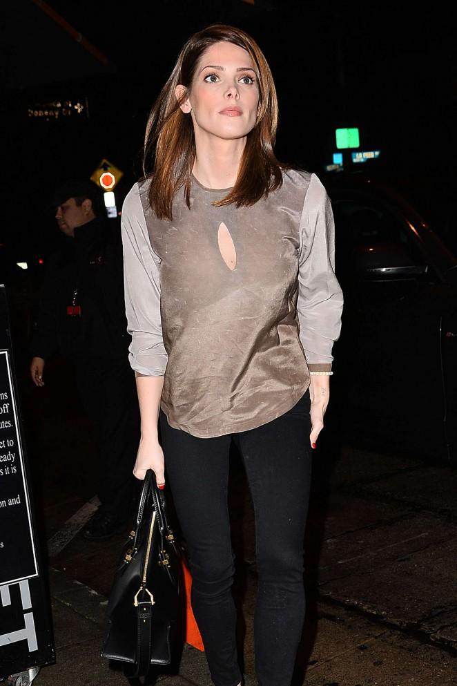 Ashley Greene – Leaving Craig's Restaurant in West Hollywood