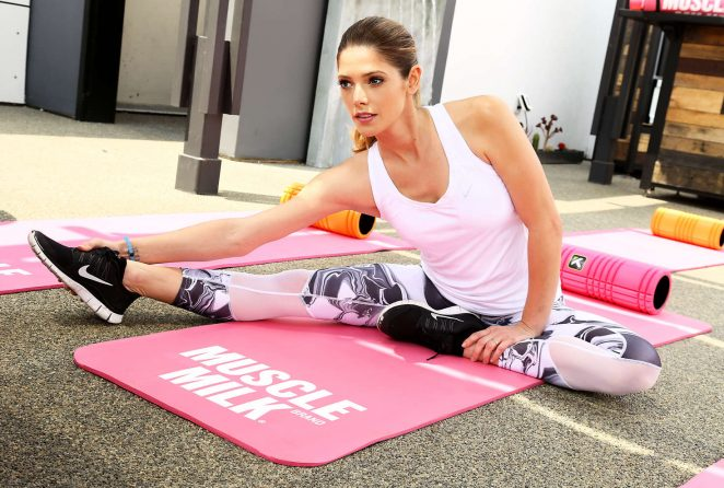 Ashley Greene: Muscle Milk Smoothies Launch -06