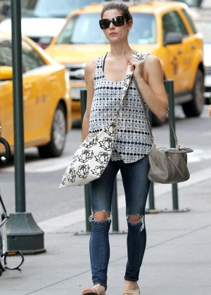 Ashley Greene in Jeans Out in Manhattan