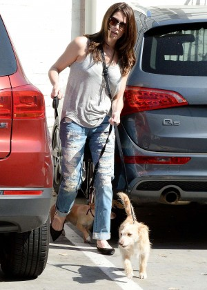Ashley Greene in Ripped Jeans Out in Studio City