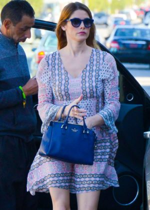 Ashley Greene out for lunch at Kreation restaurant in LA