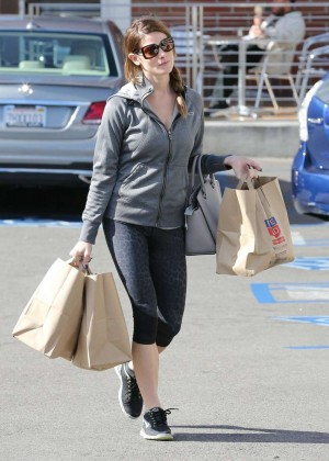Ashley Greene in Leggings Shopping in Los Angeles