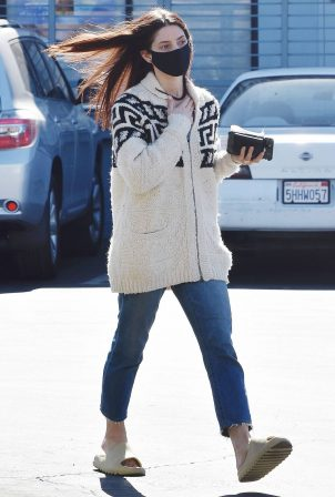 Ashley Greene - Picks up sushi in Los Angeles