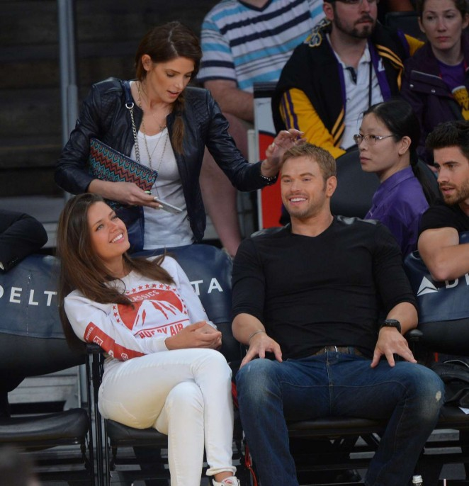 Ashley Greene - Sacramento Kings vs the Los Angeles Lakers at Staples Center