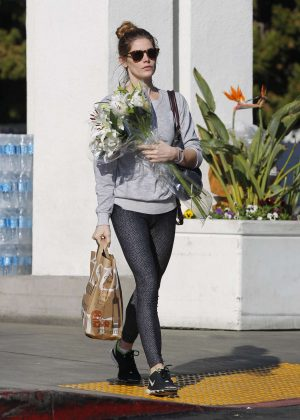 Ashley Greene - Shopping for some grocery and flower in Beverly Hills