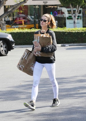 Ashley Greene in White Tights Shopping in Beverly Hills