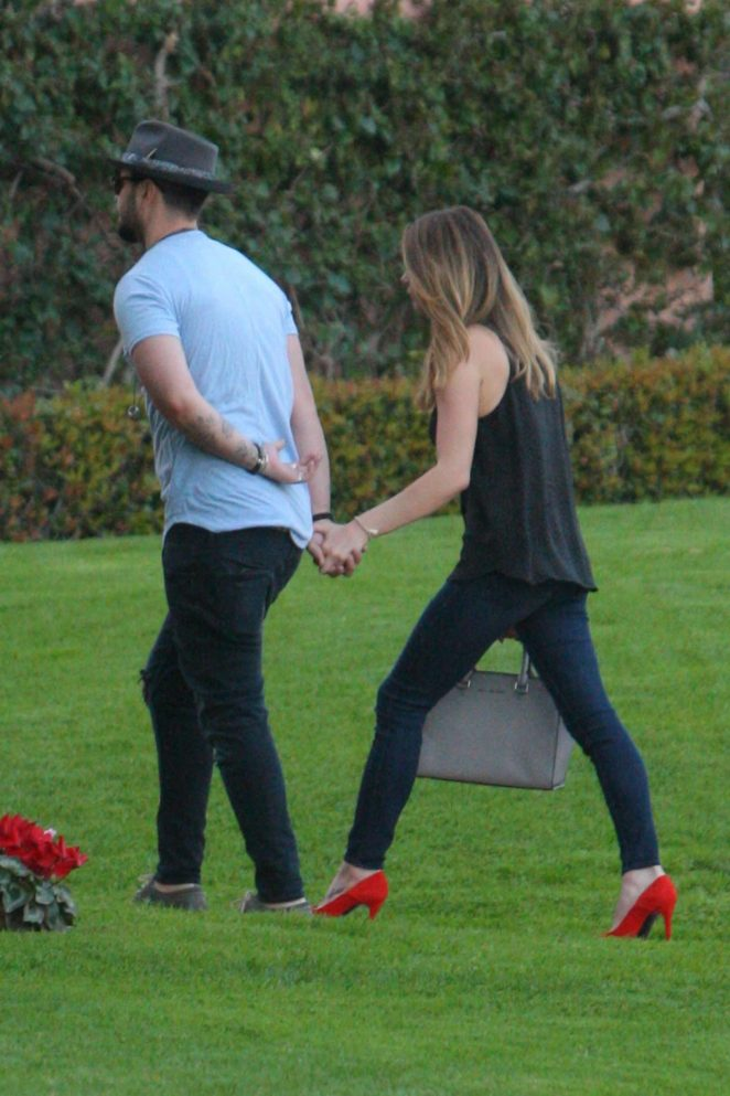 Ashley Greene with her fiance Paul Khoury at The Beverly Hills Hotel
