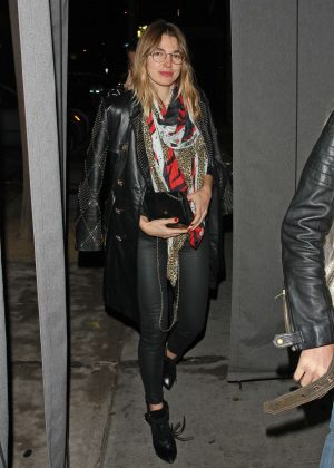 Ashley Hart at Craig's Restaurant on Christmas Eve in West Hollywood