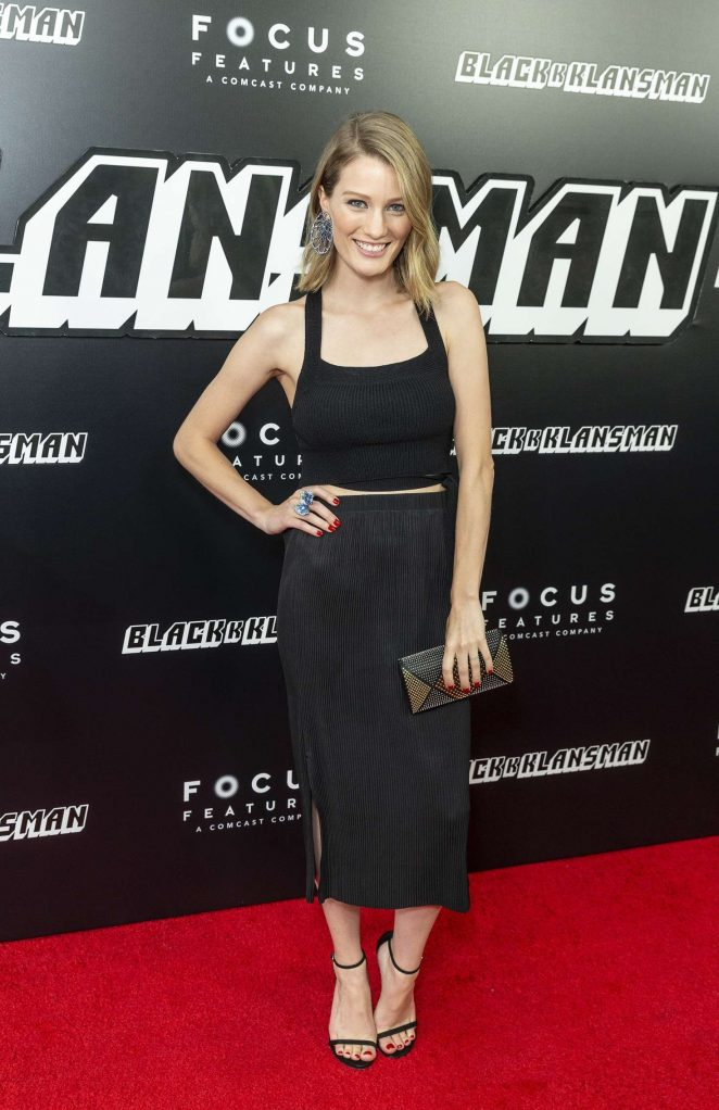 Ashley Hinshaw - 'BlacKkKlansman' Premiere in New York