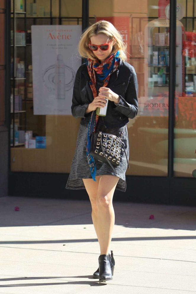 Ashley Hinshaw in MIni Skirt - Out in Beverly Hills