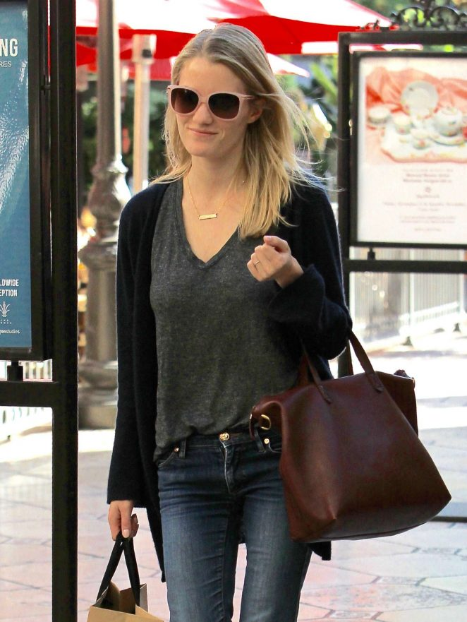Ashley Hinshaw Shopping at Grove in West Hollywood