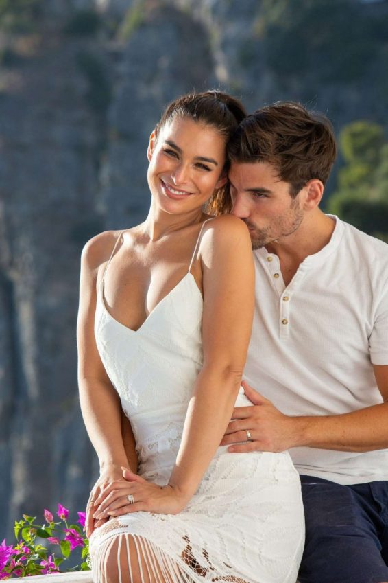 Ashley Iaconetti and Jared Haibon on their honeymoon
