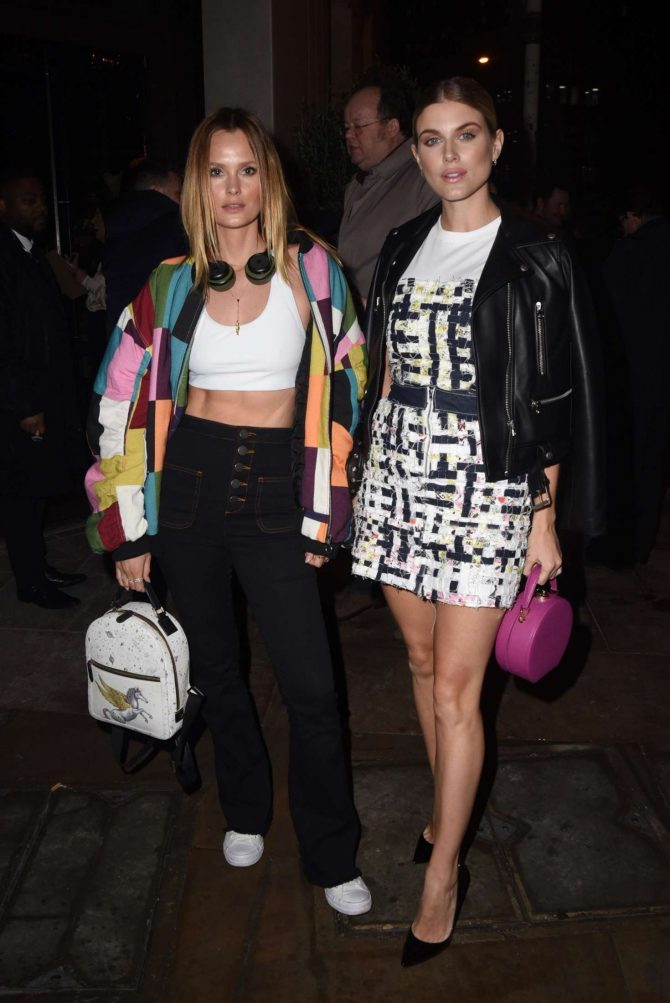 Ashley James and Charlotte de carl at the Gun to DJ event in London