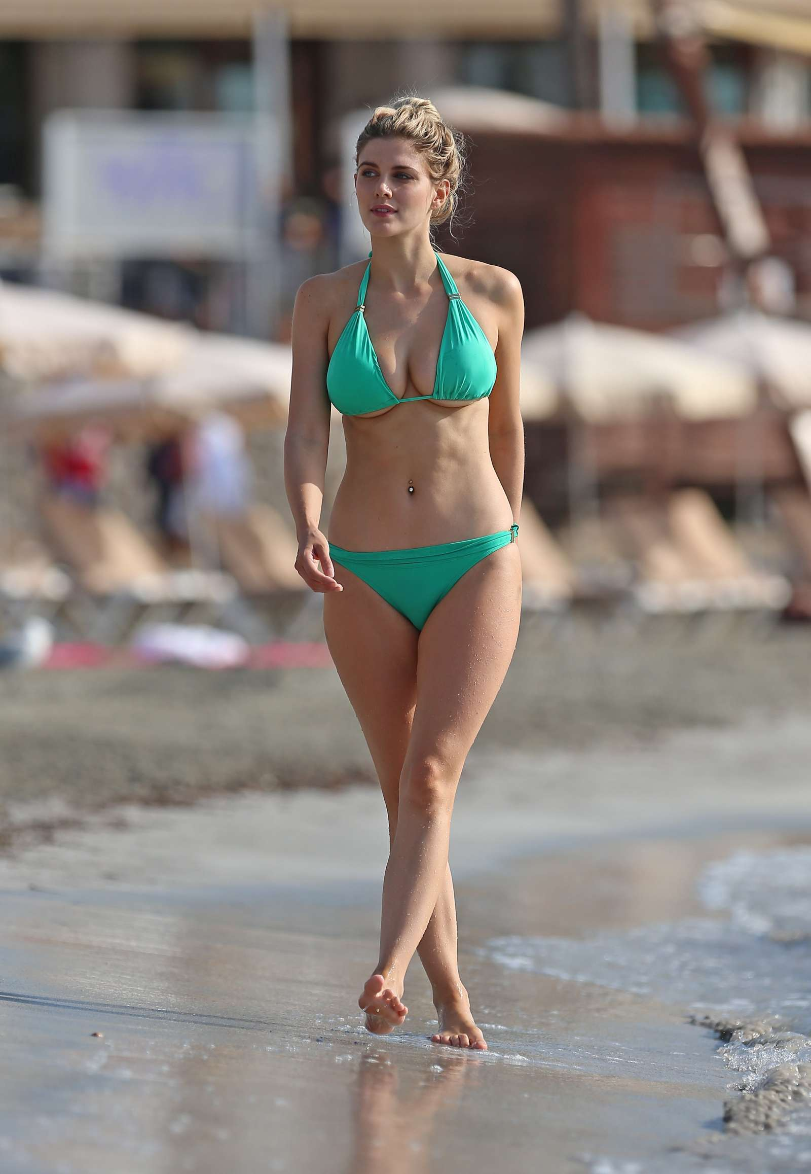 Ashley James in Bikini on the beach in Ibiza